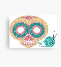 Crochet Skull Canvas Print