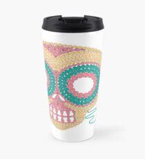 Crochet Skull Travel Mug