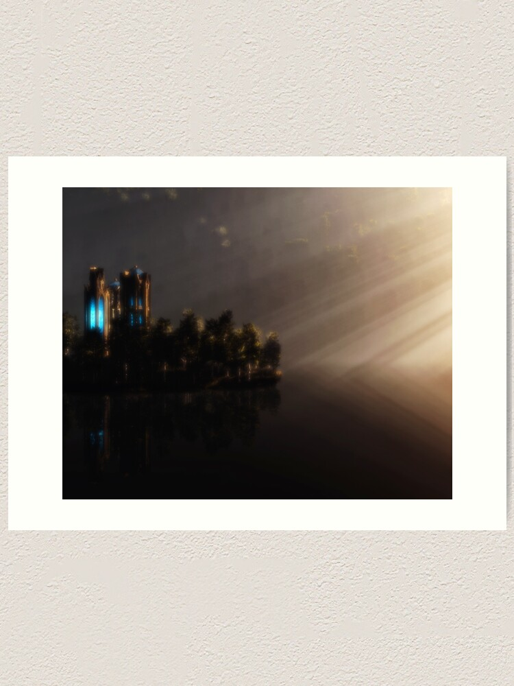 Alternate view of Elven Temple Art Print