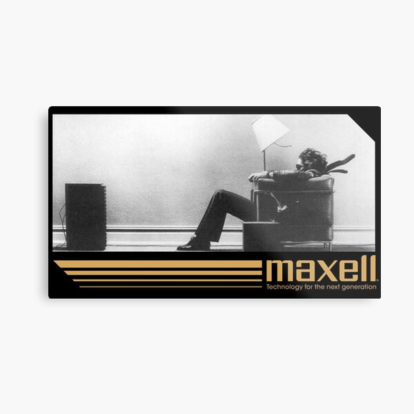 80's Retro Cassette Ad Metal Print