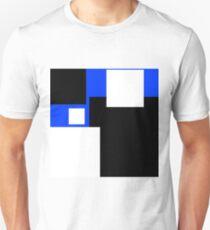 Modern Style Colour Blocks Blue Background Unisex T-Shirt