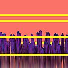Living Coral Stripes Cactus Landscape Glitch by oursunnycdays
