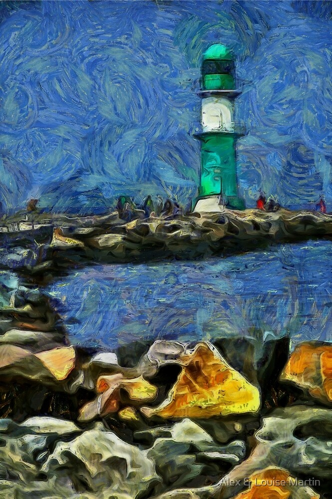 Warnemunde Lighthouse by Alex & Louise Martin