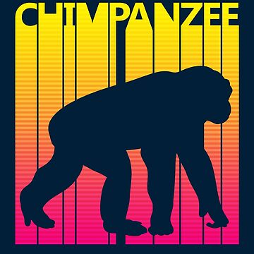 Retro 1980s Chimpanzee by polveri