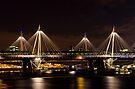 Golden Jubilee & Hungerford bridges, London by George Parapadakis ARPS (monocotylidono)