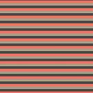 Horizontal Stripe - Coral and Green by STHogan