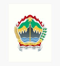 Coat of Arms of Central Java Art Print
