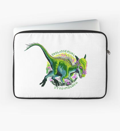 Skoliosexual Stygimoloch (with text)  Laptop Sleeve