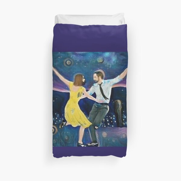 Midnight In LaLa Land Duvet Cover