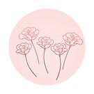 Four Roses in Pastel Pink by startedraining