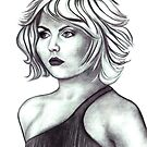 Debbie Harry celebrity portrait by Margaret Sanderson