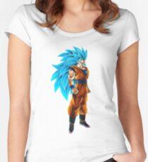 Camiseta entallada de cuello redondo Goku Super Saiyan 3 Azul! ac18bd1fdb3fb