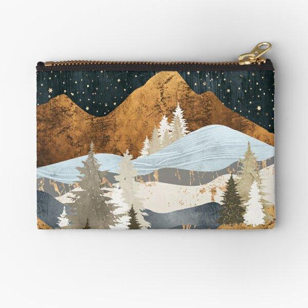 Winter Stars Zipper Pouch