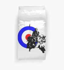 Mod and scooter Duvet Cover