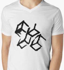 Abstract blocks Men's V-Neck T-Shirt