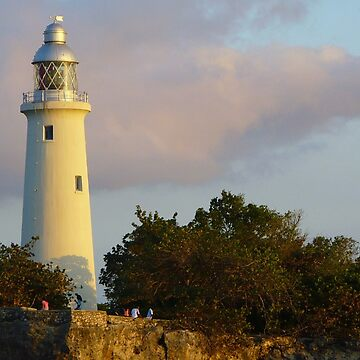 Sunset on Negril Lighthouse  by LindaB