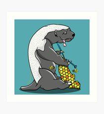 Honey badger knitting Art Print