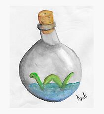 Nessie in a bottle Photographic Print