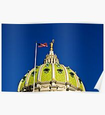 The Capitol Dome-Harrisburg, PA Poster