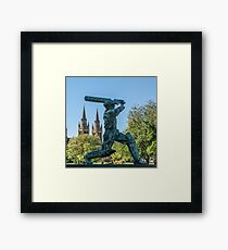 Sir Donald Bradman (The Don)  Framed Print