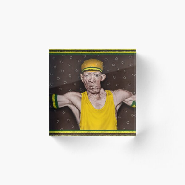 King Yellowman Acrylic Block