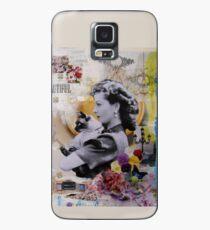 Funda/vinilo para Samsung Galaxy Vivien Leigh y gato siamés