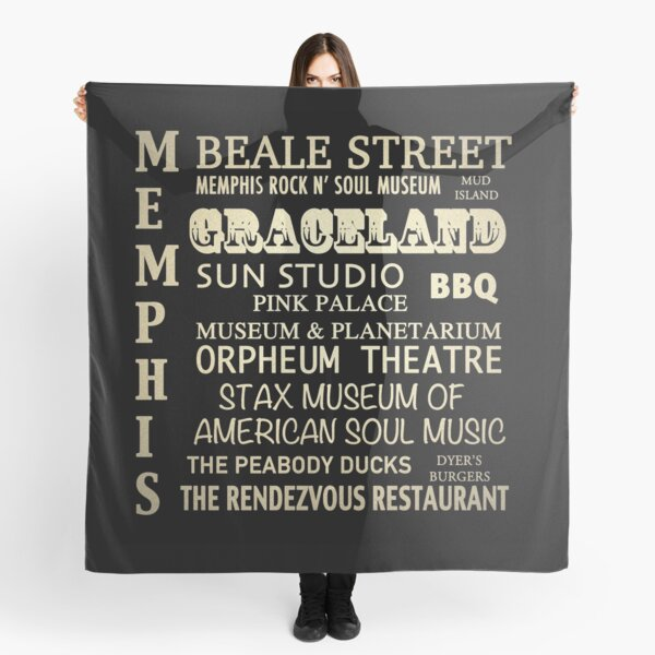 Memphis Tennessee Famous Landmarks Scarf