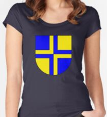 Davos coat of arms, Switzerland Women's Fitted Scoop T-Shirt