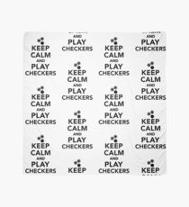 Keep calm and play Checkers Scarf