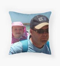 Bronte and Daddy Throw Pillow