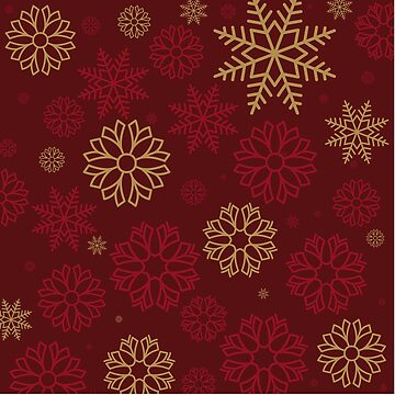 CLASSY RED GOLD SNOW PATTERN by fadibones