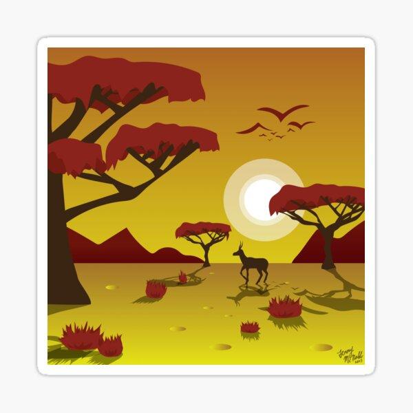 Savannah Sunset Sticker