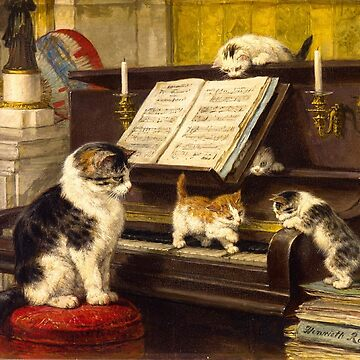 Henriëtte Ronner-Knip The Piano lesson by planetterra