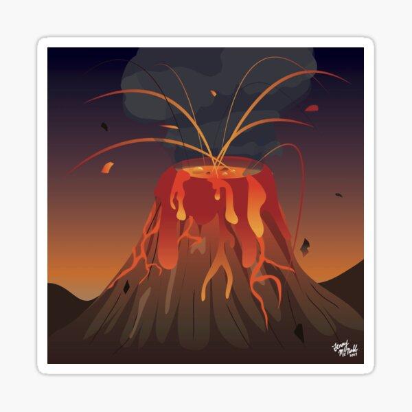 Volcano! Sticker