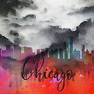 Chicago | Stadt Skyline | Buntes Aquarell von PraiseQuotes