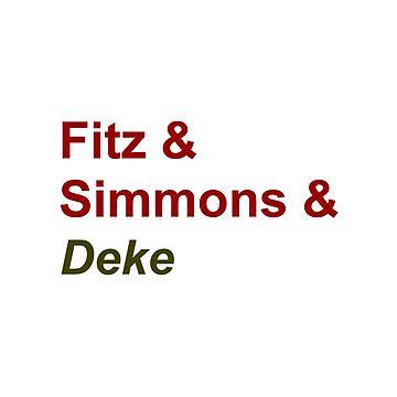 Fitz & Simmons & Deke by kardish