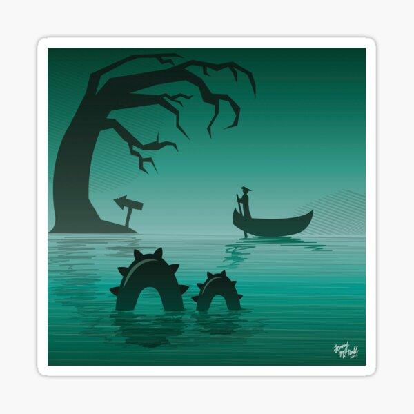 Spooky Swampland Sticker