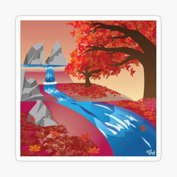 Autumn River Sticker