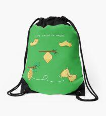 Life cycle of pasta Drawstring Bag