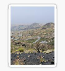 a desolate Cape Verde landscape Sticker