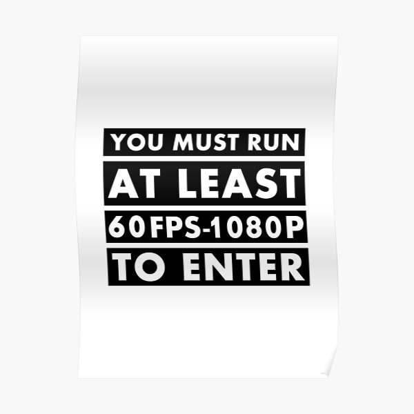 PC Master Race - Warning Poster
