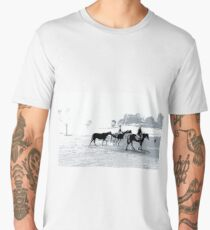 Morning Ride in the High Country 2 Men's Premium T-Shirt