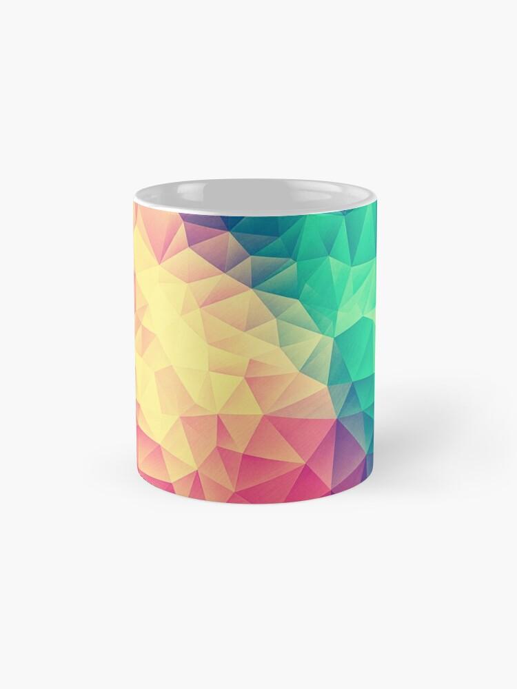 Alternative Ansicht von Abstract Polygon Multi Color Cubism Low Poly Triangle Design Tasse (Standard)