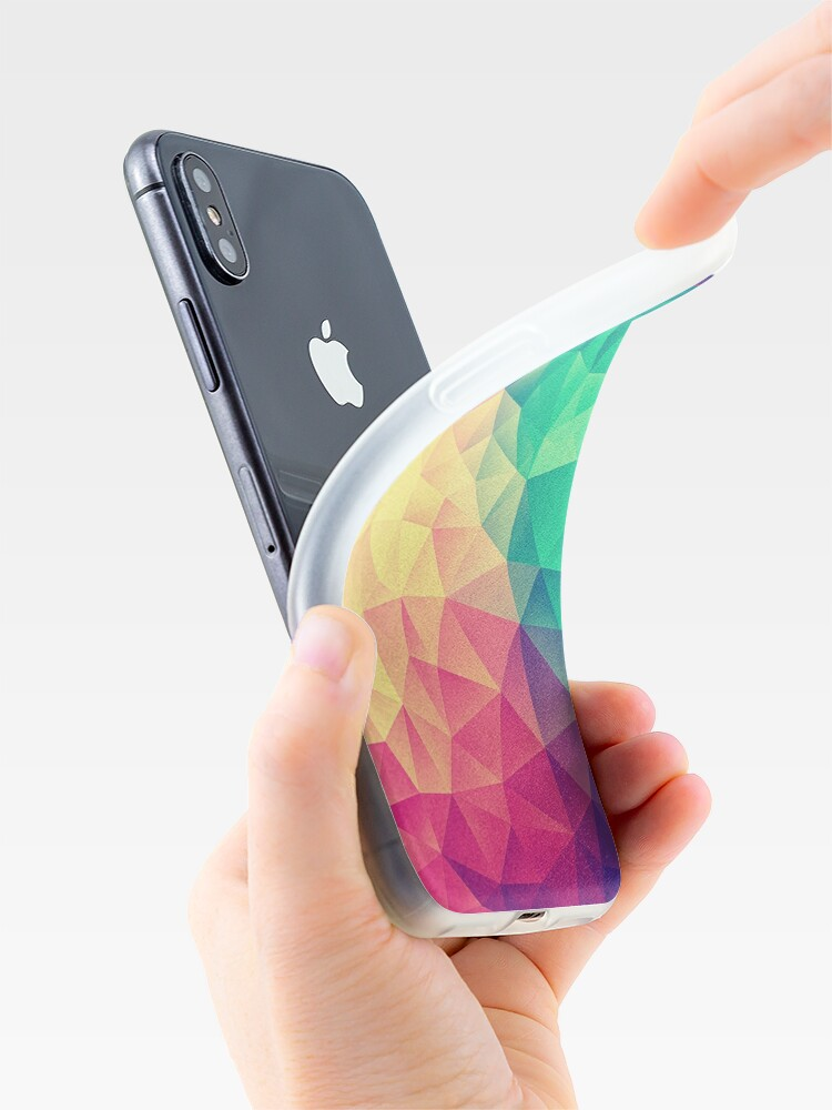 Alternate view of Abstract Polygon Multi Color Cubism Low Poly Triangle Design iPhone Case & Cover