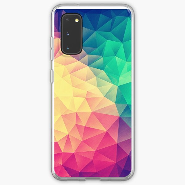 Abstract Polygon Multi Color Cubism Low Poly Triangle Design Samsung Galaxy Soft Case