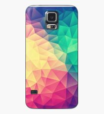 Abstract Polygon Multi Color Cubism Low Poly Triangle Design Case/Skin for Samsung Galaxy