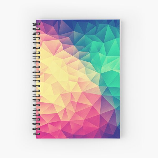 Abstract Polygon Multi Color Cubism Low Poly Triangle Pride / LGBT Design Spiral Notebook