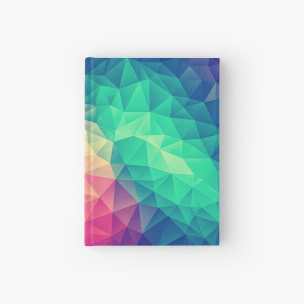 Abstract Polygon Multi Color Cubism Low Poly Triangle Design Hardcover Journal