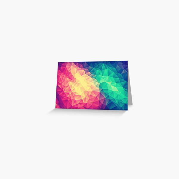 Abstract Polygon Multi Color Cubism Low Poly Triangle Pride / LGBT Design Greeting Card
