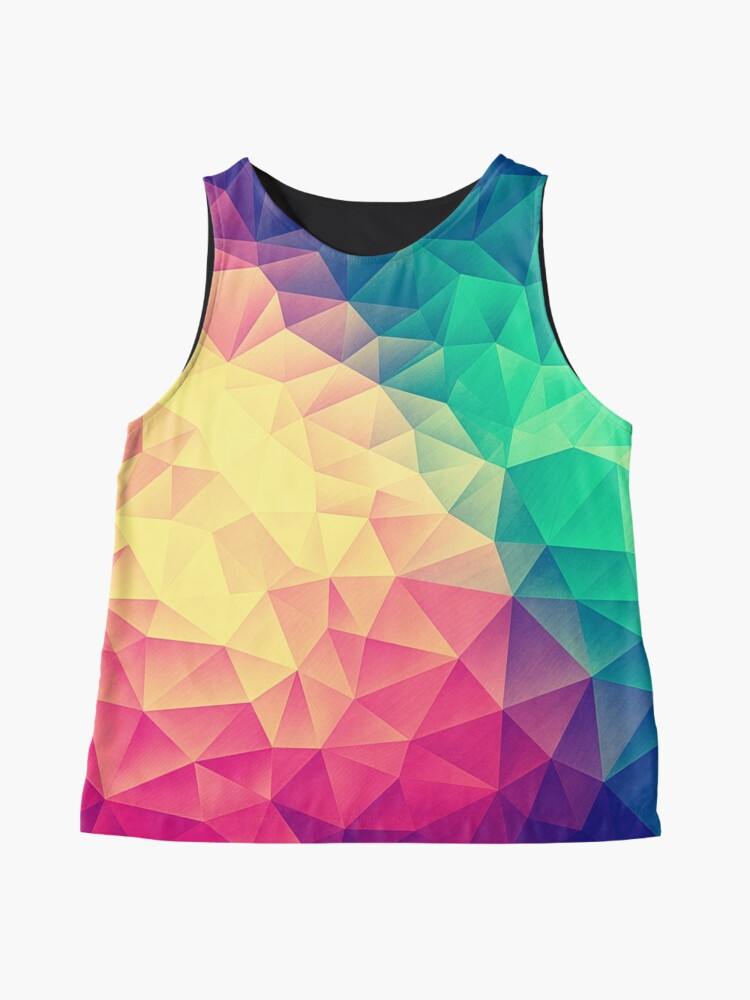 Alternative Ansicht von Abstract Polygon Multi Color Cubism Low Poly Triangle Design Ärmelloses Top